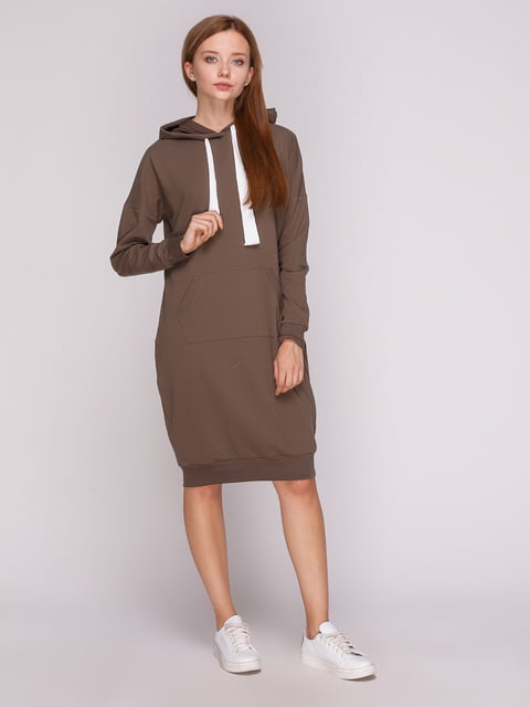 Платье оливкового цвета Роза 5163582