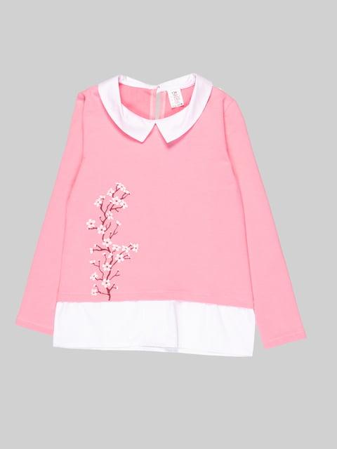 Джемпер розово-белый Роза 5163536