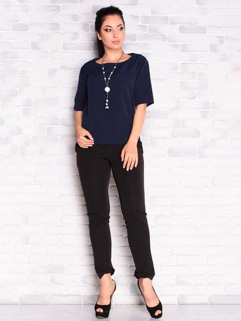 Блуза темно-синяя Victoria Loks 5165257