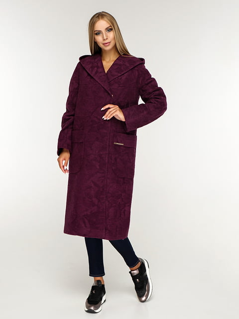 Пальто бордовое Favoritti 5165643
