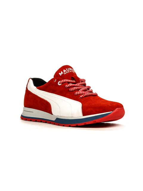 Кроссовки красно-белые Maurizi 5165034
