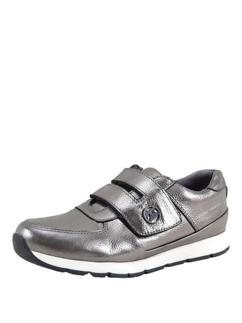 Кроссовки цвета темного никеля Broni 5167925