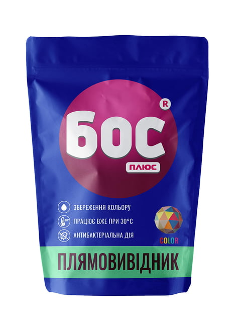 Плямовивідник для кольорових тканин (200 г) БОС плюс 5165786
