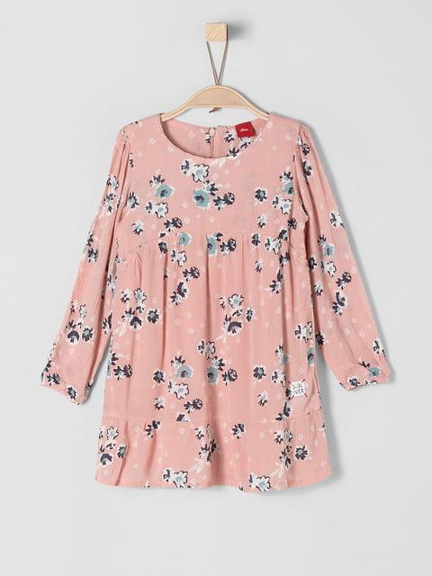 Платье персикового цвета в принт S.Oliver 5168040