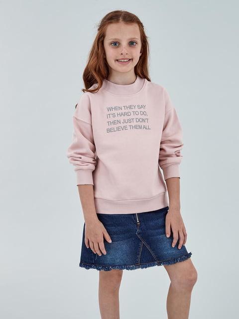 Світшот рожевий з написами Piazza Italia 5154732