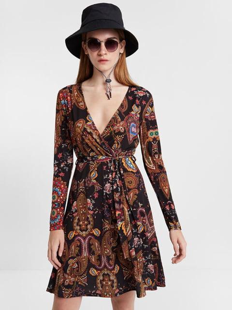 Сукня чорна з принтом Desigual 5162982