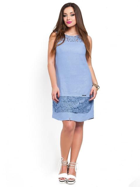Платье василькового цвета Peony 3778393