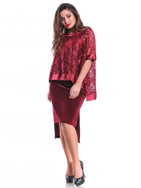 Платье цвета марсала Peony 3906529