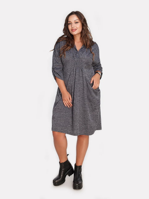 Платье графитового цвета Peony 4613344