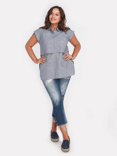 Блуза синяя Peony 4627998