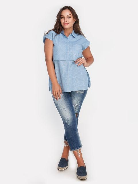 Блуза голубая Peony 4628001