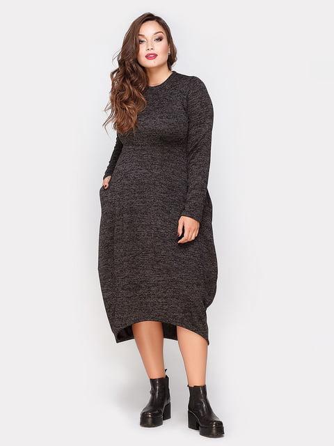 Платье графитового цвета Peony 4665187