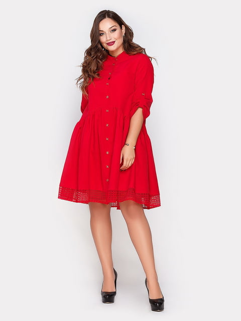 Платье красное Peony 4665216