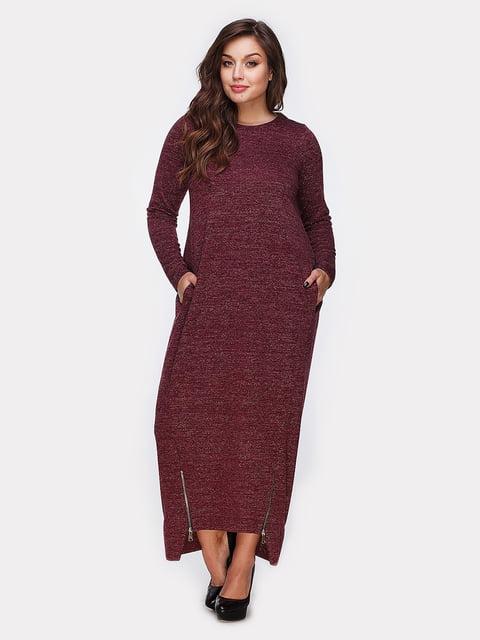 Платье цвета марсала Peony 4951021