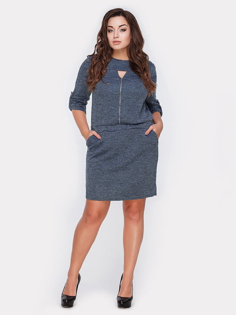 Платье синее Peony 5087809