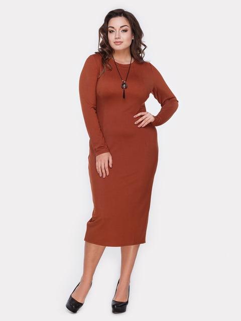 Платье терракотовое Peony 5105147