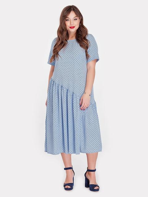 Платье голубое Peony 5115500