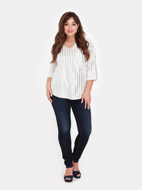 Блуза белая  в полоску Peony 5168695