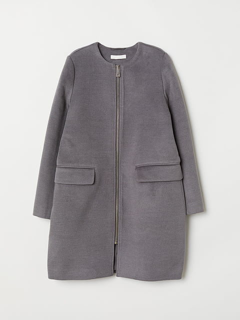 Пальто серое H&M 5168886