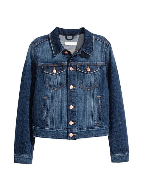 Куртка джинсовая темно-синяя H&M 5168937