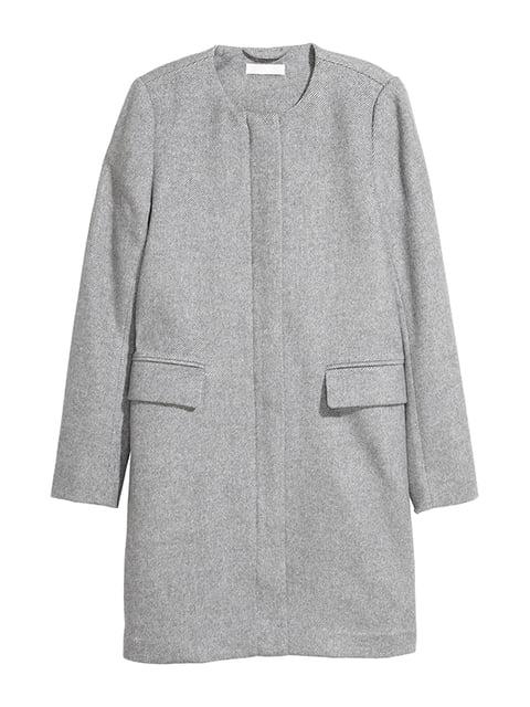 Пальто серое H&M 5168946