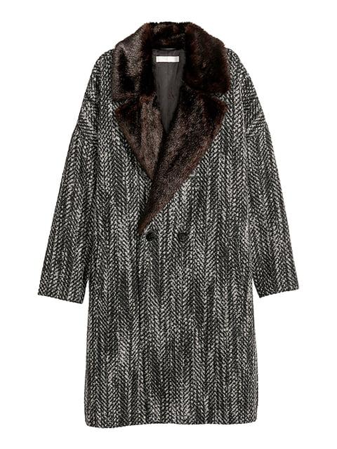 Пальто серо-черное H&M 5168959