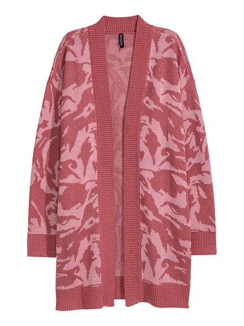 Кардиган темно-розовый H&M 5168996