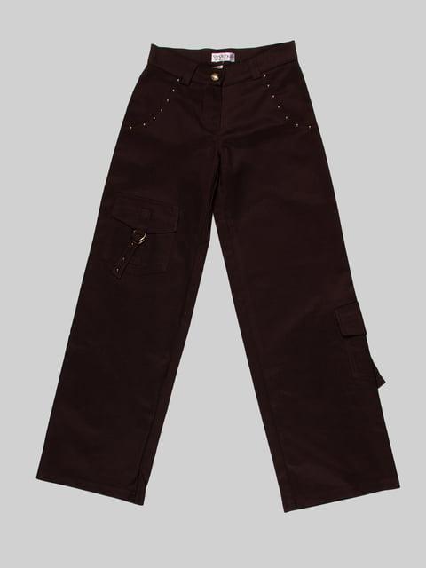 Штани коричневі Vivien 3879330