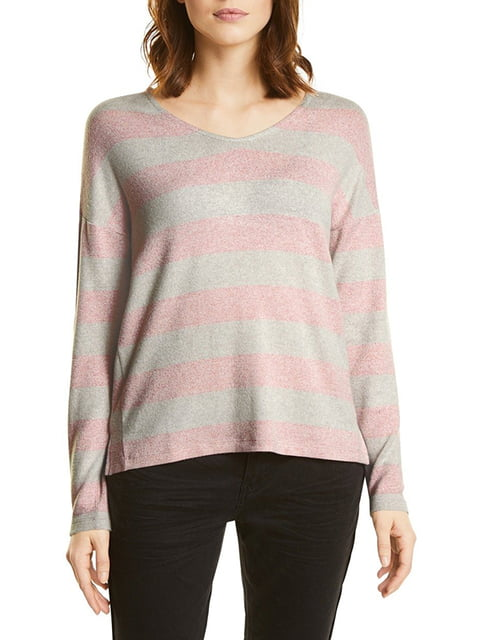 Пуловер серо-розовый Street One 5170524
