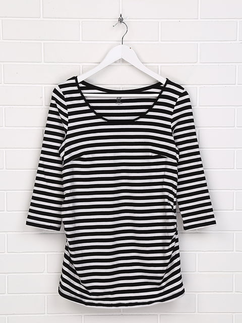 Лонгслив черно-белый H&M 5170711