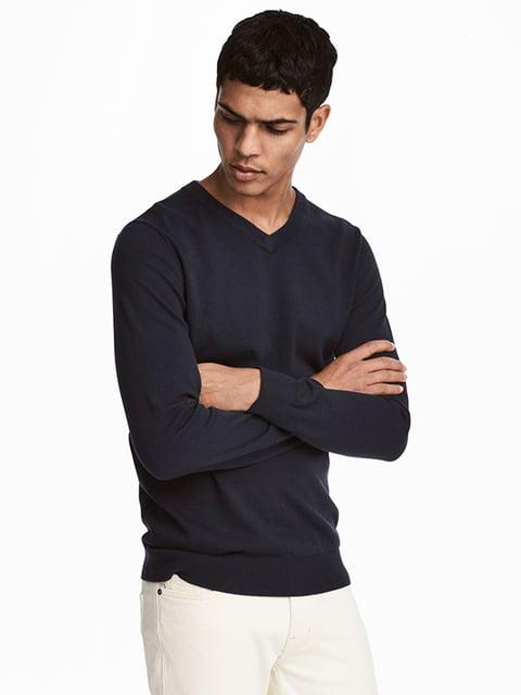 Джемпер темно-синий H&M 5171052