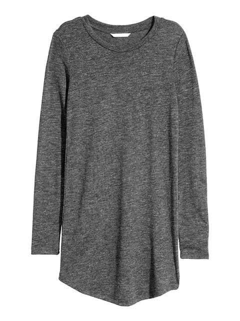 Лонгслив темно-серый H&M 5171143