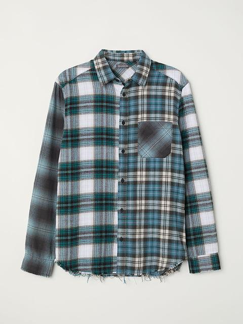 Рубашка зеленая H&M 5171304