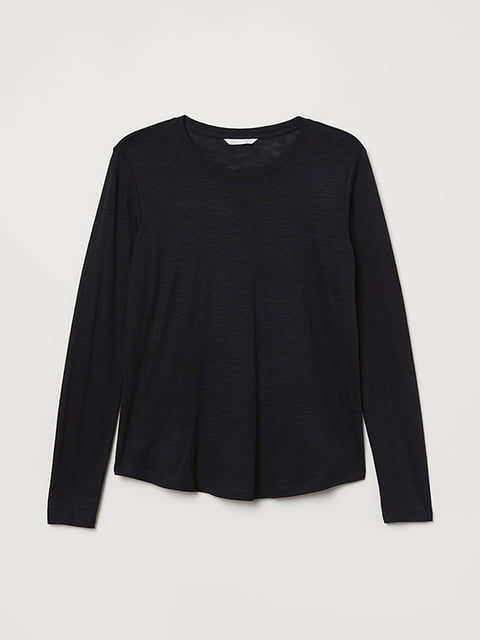 Лонгслив черный H&M 5171314