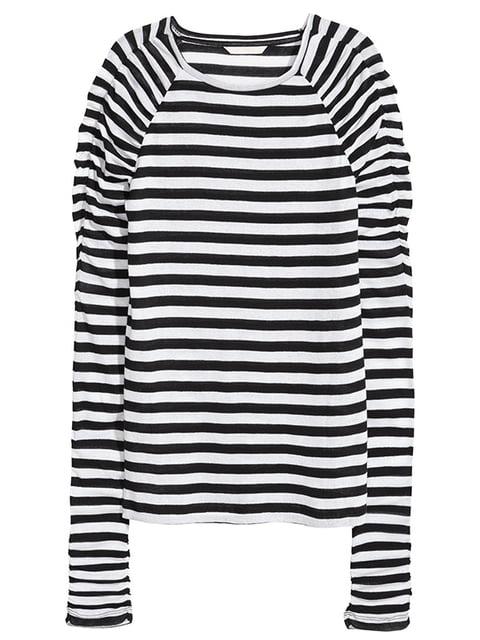 Лонгслив черно-белый H&M 5171345