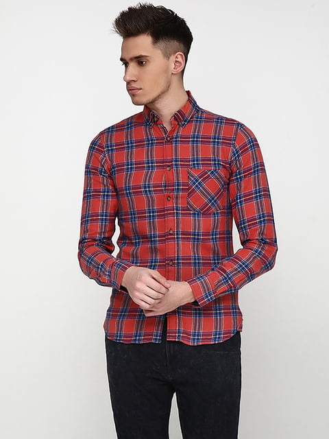 Рубашка терракотового цвета REBEL 5171347