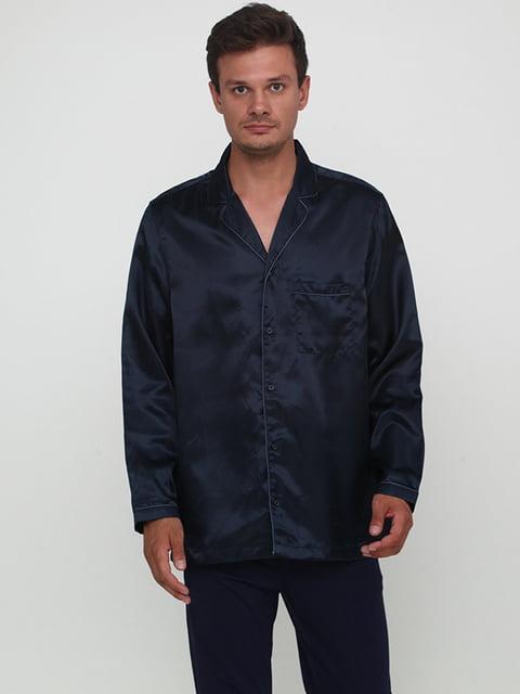 Рубашка темно-синяя H&M 5171396