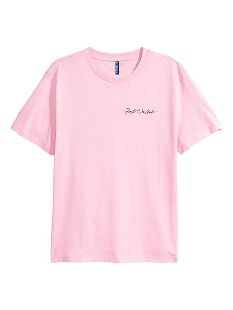 Футболка розовая H&M 5172117