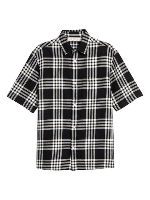 Рубашка черно-белая H&M 5172139