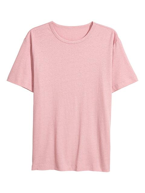 Футболка серо-розовая H&M 5172237