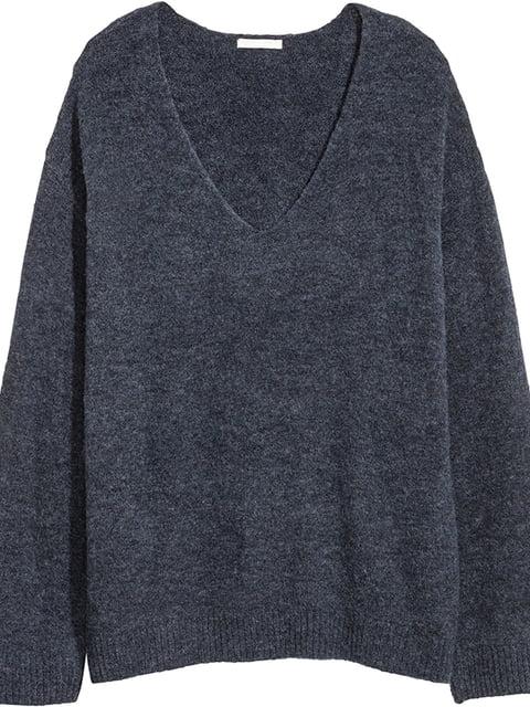 Пуловер темно-синий H&M 5172395