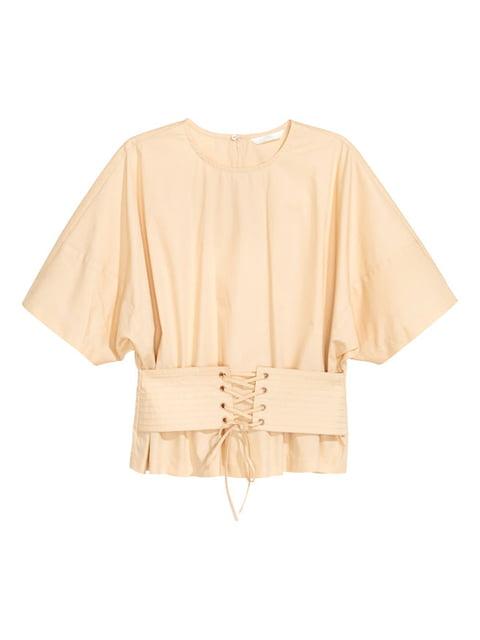 Блуза бежевая H&M 5172534