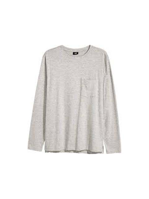 Лонгслив серый H&M 5172766