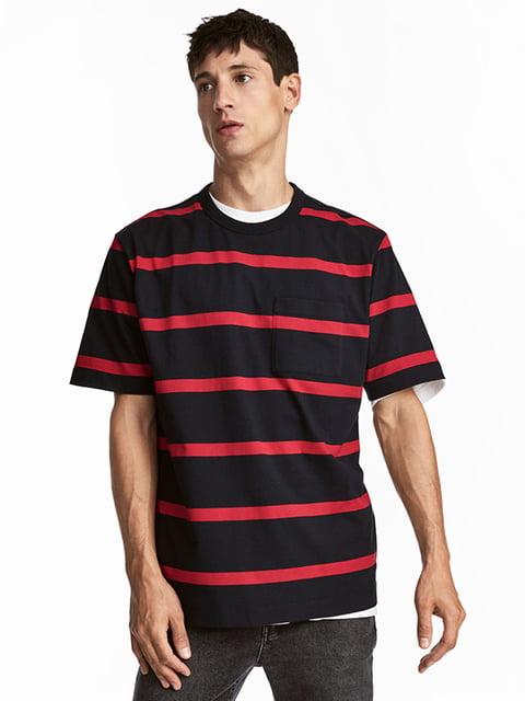 Футболка черно-красная H&M 5173095