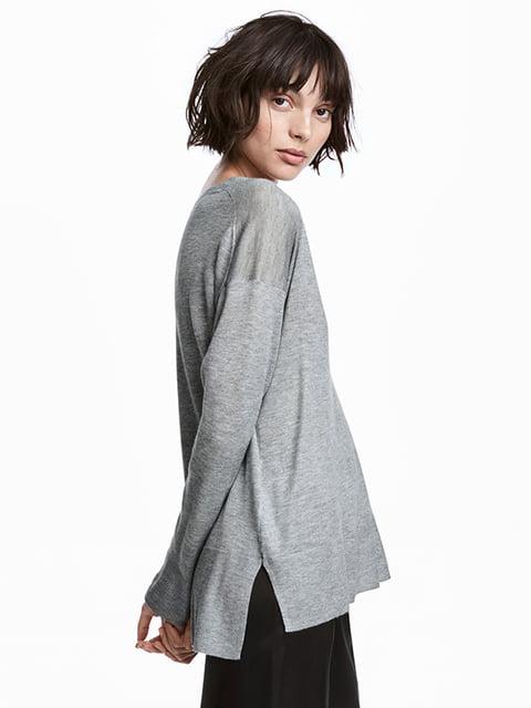 Пуловер серый H&M 5173349