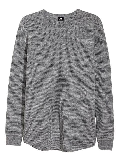 Джемпер серый H&M 5173372