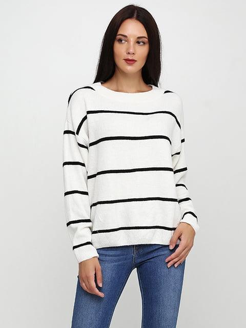 Джемпер белый в полоску H&M 5171081
