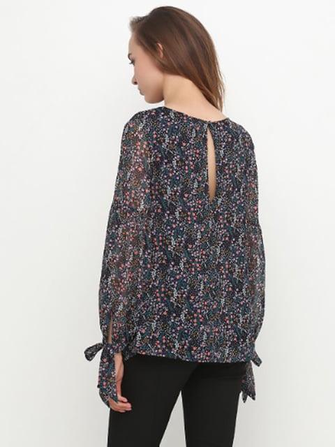 Блуза черная в принт H&M 5171202
