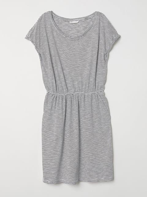 Платье черно-белое H&M 5171218