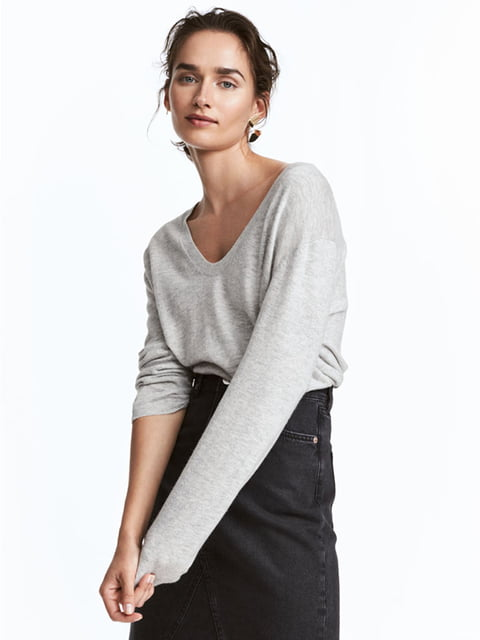 Пуловер серый H&M 5171238